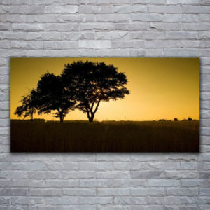120 x 60 Sunset Trees