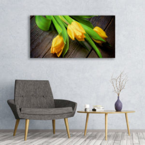 120 x 60 Yellow Love Flowers 1
